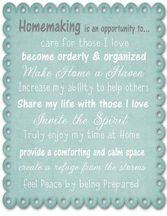 Homemaking - Proverbs 31:10-31
