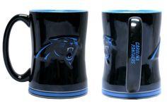 Carolina Panthers 14oz Sculpted Relief Coffee Mug (backorder)