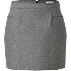 J.W. Anderson Wool-Blend Sponge Mini Skirt (10,280 INR) ❤ liked on Polyvore featuring skirts, mini skirts, bottoms, saias, faldas, grey, mini skirt, grey mini skirt, short grey skirt and short skirts