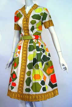Dress, silk print, Emilio Pucci, c. 1960-62, founder's collection