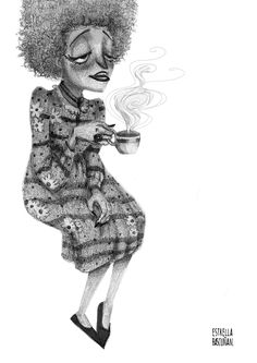 Characters with pencil on Behance