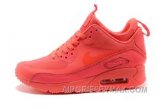 watch 1e22f f3239 Soldes Visiter Le Pas Cher Femme Nike Air Max 90 Mid Winter No Sew  Sneakerboot NS Tous Rouge Soldes