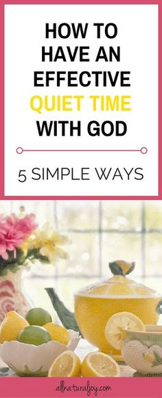Having an effective quiet time on a daily basis is BY FAR, one of the most IMPORTANT things you can do for yourself and for your family. Here are 5 EFFECTIVE ways to start! via @Pinterest.com/allnaturaljoy_