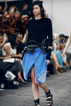 Dion Lee Line Two - Shine By Three All About Fashion, I Love Fashion, High Fashion, Dion Lee, Latest Mens Fashion, Ethnic Fashion, Minimal Fashion, Blue Denim, Knitwear