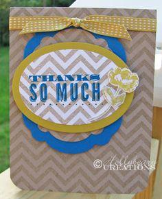 Hollybeary Creations  Thank you card