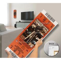 Super Bowl XLIV (44) Mega Ticket - New Orleans Saints