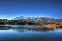 Crystal Lake at Pikes Peak near Colorado Springs, Colorado.