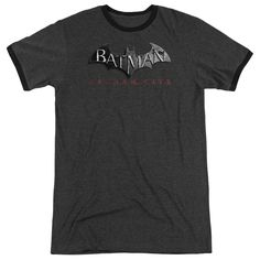 """Checkout our #LicensedGear products FREE SHIPPING + 10% OFF Coupon Code """"Official"""" Arkham City / Logo - Adult Heather Ringer - Arkham City / Logo - Adult Heather Ringer - Price: $34.99. Buy now at https://officiallylicensedgear.com/arkham-city-logo-adult-heather-ringer"""