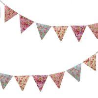 Guirnalda de tela mini con flores.fiestas - Vintastic Shop