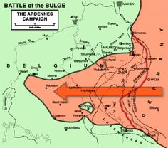 16 Dec 44: The Battle of the Bulge begins, the last major German counter-offensive in the Ardennes Forest of Belgium and the largest and bloodiest battle fought on the western front in World War II. Germany's goal was to split the Allied line in half, capture Antwerp and encircle and destroy four Allied armies, forcing the Western Allies to negotiate a peace treaty in the Axis Powers' favor. Once accomplished, Hitler could then fully concentrate on the Eastern theatre of war.