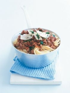 Spaghetti Bolognese - this is a yummy simple bolognese recipe. My kiddies love it with freshly shaved parmesan. Think it might be dinner tonight!