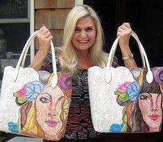 Hand Painted Portrait Handbags