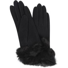 Carolina Amato Fur Cuff Glove (63 AUD) ❤ liked on Polyvore featuring accessories, gloves, black, fur cuff gloves, carolina amato gloves, carolina amato, fur gloves and black gloves