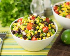 Black bean and corn salad recipe with lime juice