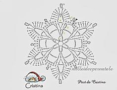 "Śnieżkowy ""Krok po kroku"" - Her Crochet Crochet Snowflake Pattern, Vintage Crochet Patterns, Crochet Stars, Christmas Crochet Patterns, Crochet Snowflakes, Crochet Stitches Patterns, Doily Patterns, Thread Crochet, Crochet Diagram"