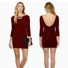 Corset Burgundy Short Mini Tight Long Sleeve Low Back Homecoming Sexy Party Dress, Sexy Dresses, Sleeve Dresses, Tight Long Sleeve Dress, Dress Long, Summer Dresses Online, Black Lace Cocktail Dress, Online Dress Shopping, Dress Red