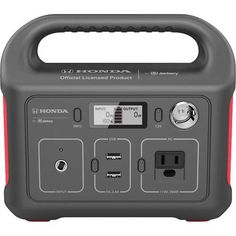 Shop Honda by Jackery Portable Power Station Gray/Red at Best Buy. Find low everyday prices and buy online for delivery or in-store pick-up. Usb Type A, New Macbook, Tactical Survival, Best Buy Store, In Case Of Emergency, Tag Design, All In One, Cool Things To Buy, Honda