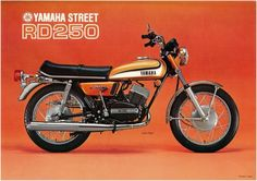 Yamaha Poster RD250 Street 250 Twin 1973 Superb Suitable TO Frame | eBay