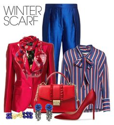 """""""Wrapper's Delight:  Winter Scarf"""" by shamrockclover ❤ liked on Polyvore featuring Roksanda, Dolce&Gabbana, Alice + Olivia, MICHAEL Michael Kors, Forest of Chintz, Luise, Alexander McQueen, AlexanderMcQueen and winterscarf"""
