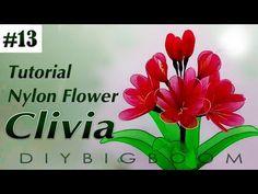 Nylon stocking flowers tutorial #13, How to make nylon stocking flower step by step - YouTube
