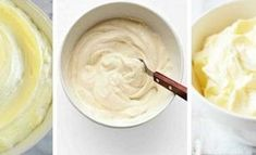 Cream Cheese Frosting from Martha Stewart basic. 12 oz cream cheese 1 sticks butter, cups confectioners sugar, 2 tsps vanilla , milk if needed Icing Recipe, Frosting Recipes, Cupcake Recipes, Cupcake Cakes, Dessert Recipes, Vegan Desserts, Just Desserts, Delicious Desserts, Yummy Food