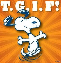 TGIF quotes quote charlie brown snoopy friday peanuts days of the week