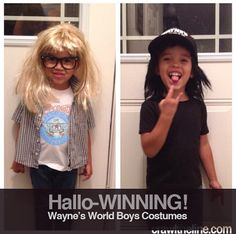 Garth Algar & Wayne Campbell from Wayne's World #kidscostumes #kidspopculturecostumes Crawl The Line : Hallo-WINNING!