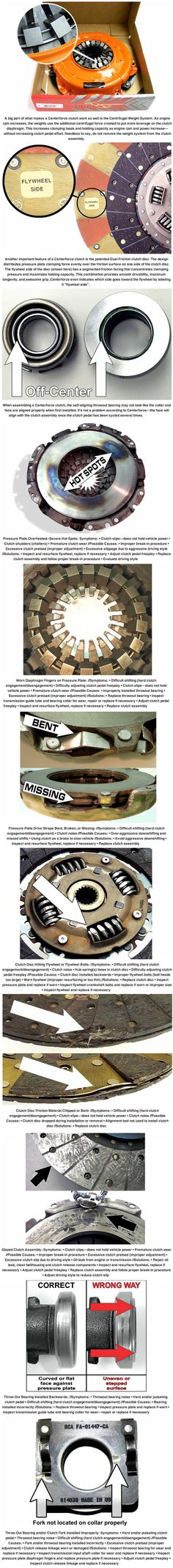 Clutch problems can be pretty tough to pinpoint, especially without tearing the assembly down to see what's what. That's why we asked the experts at Centerforce for the causes of the most common clutch culprits—poor shifting, clutch slippage and shudder, and improper clutch release. Some of the causes aren't even connected to the clutch itself. Read more...