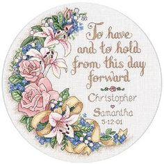 'To Have and to Hold' Counted Cross Stitch Kit | Overstock.com