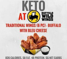 Keto at Buffalo Wild Wings. Keto tips and tricks. Healthy Fast Food Restaurants, Fast Healthy Meals, Healthy Eating, Clean Eating, Quick Meals, Buffalo Wild Wings, Keto Diet Plan, Low Carb Diet, Ketogenic Diet