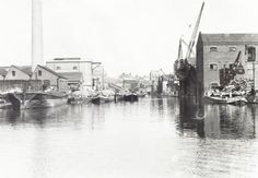 "Caption: ""Refuse boats in the Paddington Basin"" 1930s"