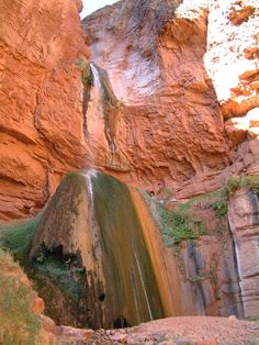 Day Hikes from Phantom Ranch/Bright Angel:   Ribbon Falls on the North Kaibab Trail