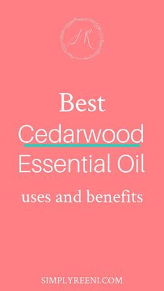 Cedarwood essential oil has a woodsy scent along with many different therapeutic benefits. Here are the best cedarwood essential oil benefits. Cedarwood Essential Oil Uses, Essential Oils Guide, Young Living, Doterra, Essential Oil Supplies, Face Makeup Tips, Detox Tips, Oil Benefits, Diffuser Blends