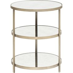 Audrey Bronzed 3-Tier Side Table $879.00