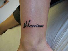 cute name tattoo