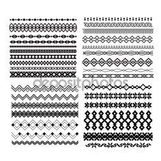 Conjunto de vector bordes y líneas. Elementos geométricos de diseño — Ilustración de stock #64442295