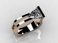 Harry Roa design : Perfect with Trillion cut stone! Harry Roa design : Perfect with Trillion cut stone! Diamond Rings, Diamond Jewelry, Gold Jewelry, Jewelry Rings, Jewelry Accessories, Fine Jewelry, Jewellery, Pandora Jewelry, Bijoux Design