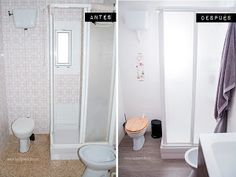 Reforma de baño sin realizar obras (antes y después) Home Staging, Grands Pots, Home Hacks, Decoration, Small Bathroom, Decorating Your Home, Sweet Home, New Homes, Flooring