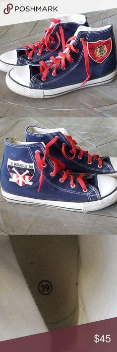 621af1e20c08 Custom converse style sneakers Custom converse style sneakers. Very good  barely worn condition. Customized