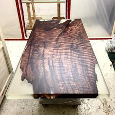 Square Cut Burl. Headed to the contemporary furniture gallery at @maisongerard in #NYC #stacklab #diningtable