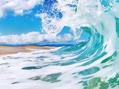 Surf Art 8 x 10 Ocean Wave Beach fotografía por PaulToppPhotography