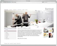 Projekt: Format Küchen. Mehrsprachige Corporate Website für den Küchenhersteller Format auf Basis TYPO3 mit Küchen aus aller Welt, Newsbereich und virtuellem Showroom