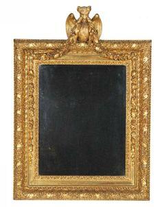 MIROIR «À LA CHIMÈRE» Paris, époque Louis XVI MATÉRIAUX Bois doré et glace H. 120 cm, L. 82 cm