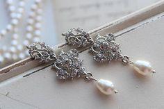 Art Deco Earrings Vintage Style Crystal Earrings Statement