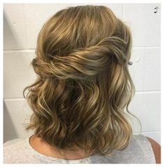 Twisted Crown Half Updo - 60 Easy Updo Hairstyles for Medium Length Hair in 2019 - The Trending Hairstyle - Page 18 Updos For Medium Length Hair, Up Dos For Medium Hair, Medium Hair Styles, Curly Hair Styles, Bridal Hair Half Up Medium, Bridesmaid Hair Half Up Medium, Short Hair Bridesmaid Hairstyles, Medium Length Wedding Hair, Summer Hairstyles For Medium Hair