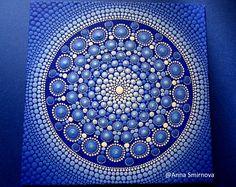 Mandala brillante e sorprendente, originale, in un unico esemplare, unico regalo per ogni occasione