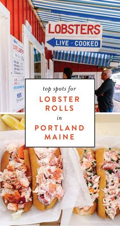 Looking for things to do in Portland, Maine? Here are some top spots for lobster rolls in Portland, Maine. Some of these Portland, Maine restaurants may surprise you! Lobster Restaurant, Lobster Shack, New England Cruises, New England Travel, Best Lobster Roll, Lobster Rolls, Best Lobster In Maine, Portland Maine Restaurants, Bar Harbor Maine Restaurants