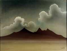 Landscape -- Black Rock Desert is one of several paintings and drawings by Robert Caples in the Special Collections Art collection.