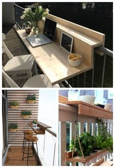 Small Balcony Design, Small Balcony Garden, Small Balcony Decor, Small Patio, Modern Balcony, Balcony Ideas, Apartment Balcony Garden, Apartment Balcony Decorating, Apartment Balconies