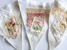 Gorgeous embroidered fabric banner